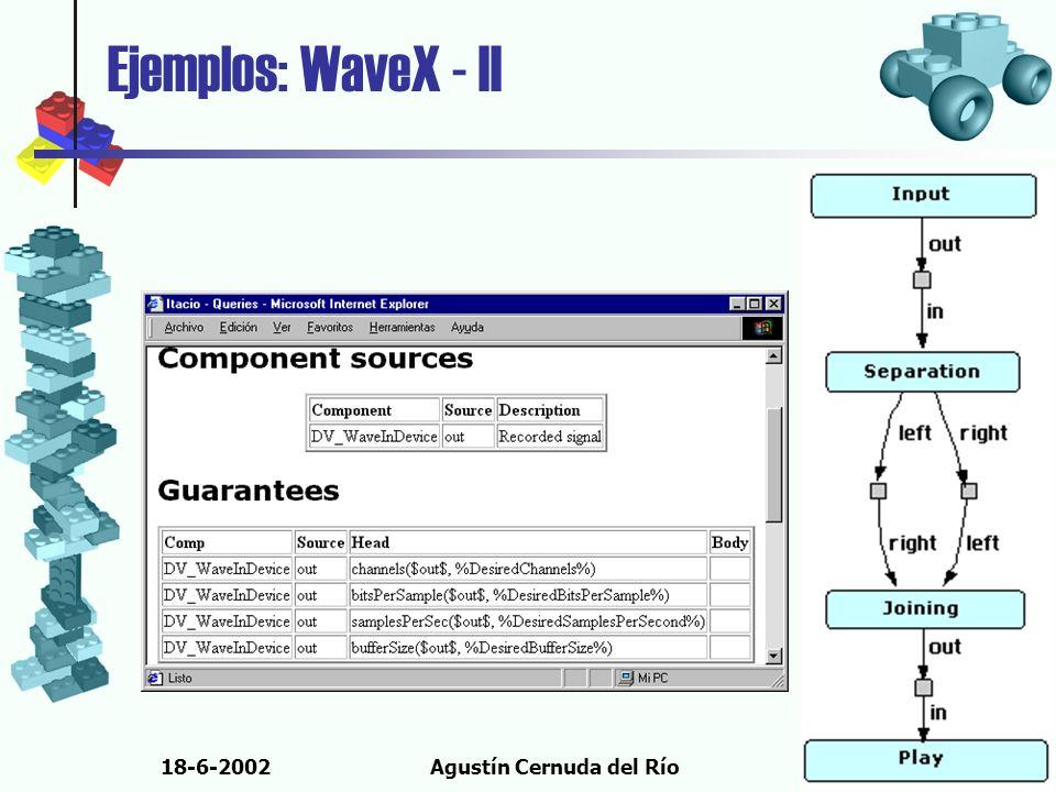 18-6-2002Agustín Cernuda del Río Ejemplos: WaveX - II