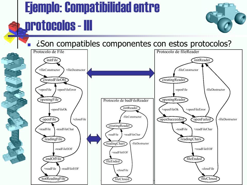 18-6-2002Agustín Cernuda del Río Ejemplo: Compatibilidad entre protocolos - III ¿Son compatibles componentes con estos protocolos?