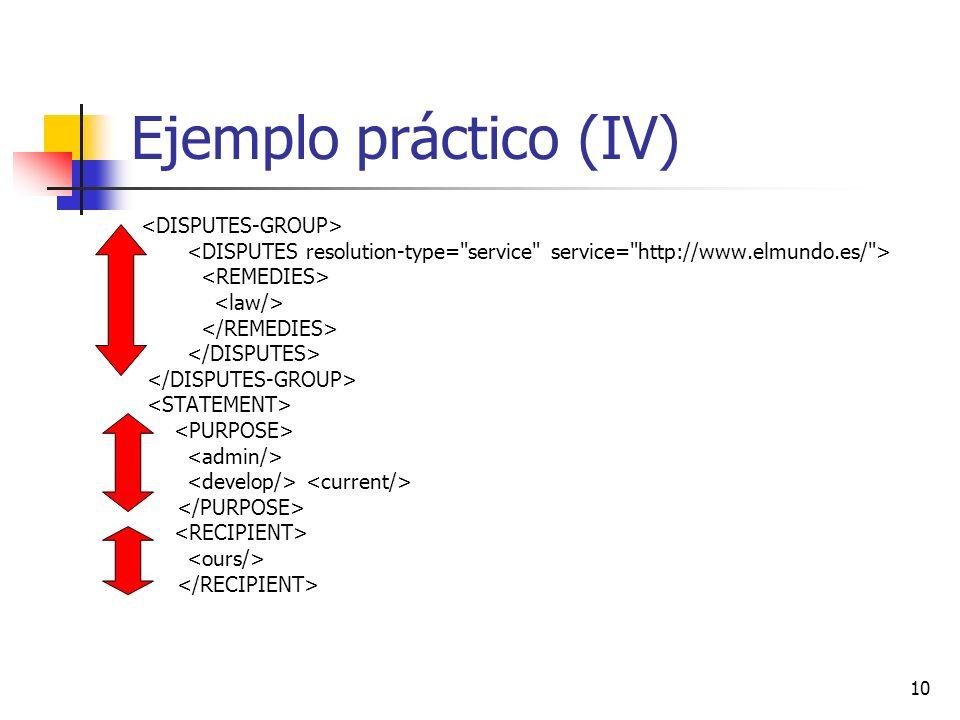 10 Ejemplo práctico (IV)