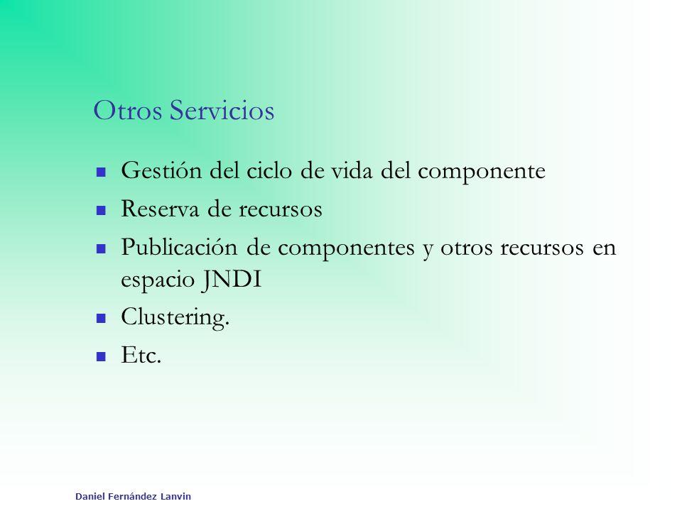 Daniel Fernández Lanvin Otros Servicios Gestión del ciclo de vida del componente Reserva de recursos Publicación de componentes y otros recursos en es