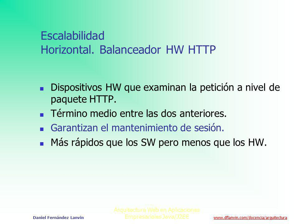 www.dflanvin.com/docencia/arquitectura Arquitectura Web en Aplicaciones Empresariales Java/J2EE Daniel Fernández Lanvin Escalabilidad Horizontal. Bala