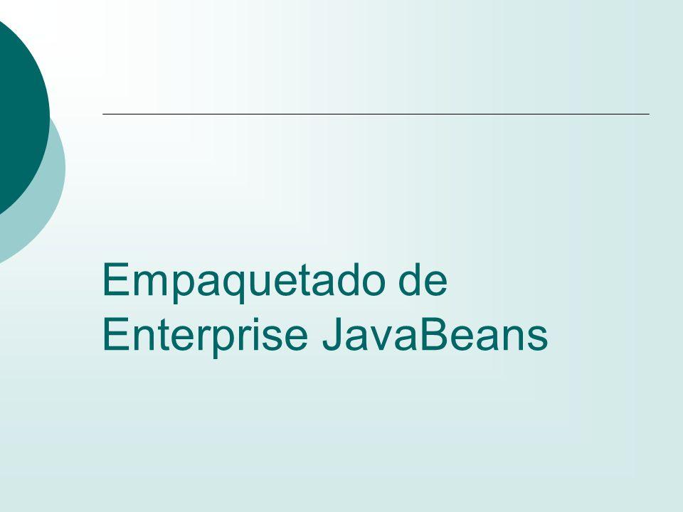 Empaquetado de Enterprise JavaBeans