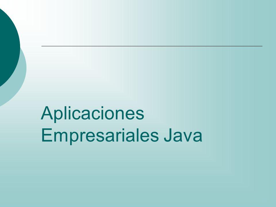 Aplicaciones Empresariales Java