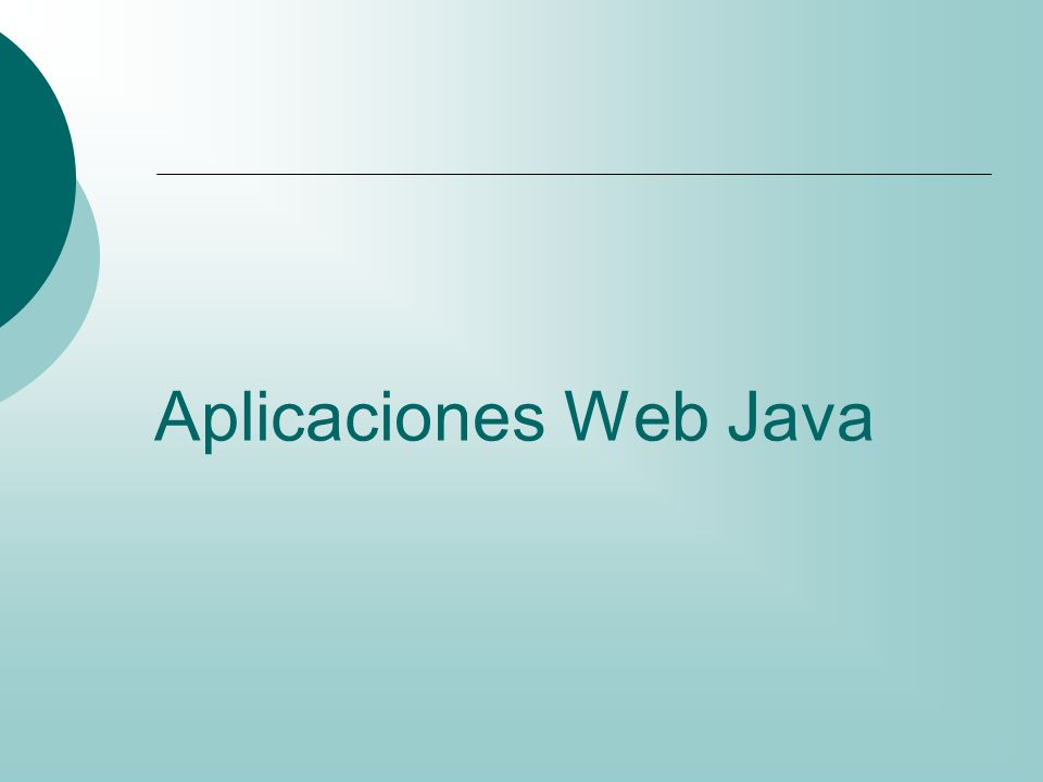 Aplicaciones Web Java