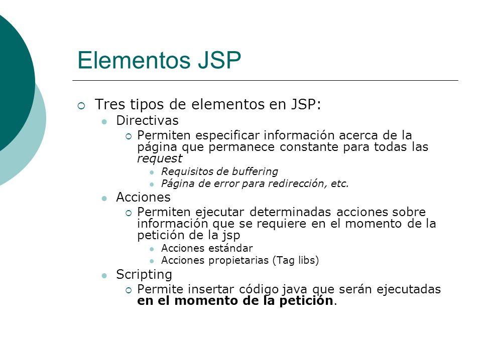 JSP: Acciones: useBean b) ACCION jsp:useBean permite cargar y utilizar un JavaBean en la página JSP y así utilizar la reusabilidad de las clases Java.