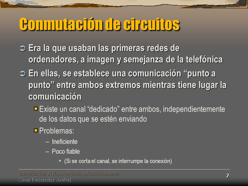 Introducción al desarrollo de aplicaciones web César Fernández Acebal 78 Entrada estándar.