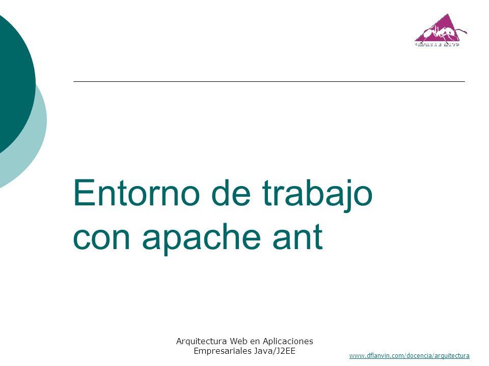 www.dflanvin.com/docencia/arquitectura Arquitectura Web en Aplicaciones Empresariales Java/J2EE Entorno de trabajo con apache ant