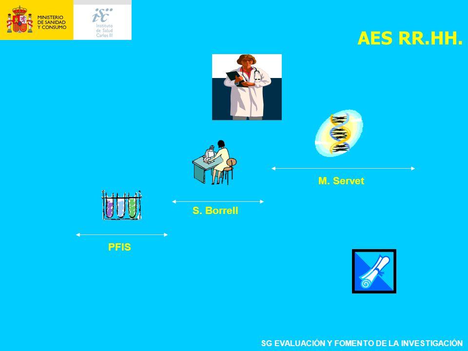 SG EVALUACIÓN Y FOMENTO DE LA INVESTIGACIÓN PFIS S. Borrell M. Servet AES RR.HH.
