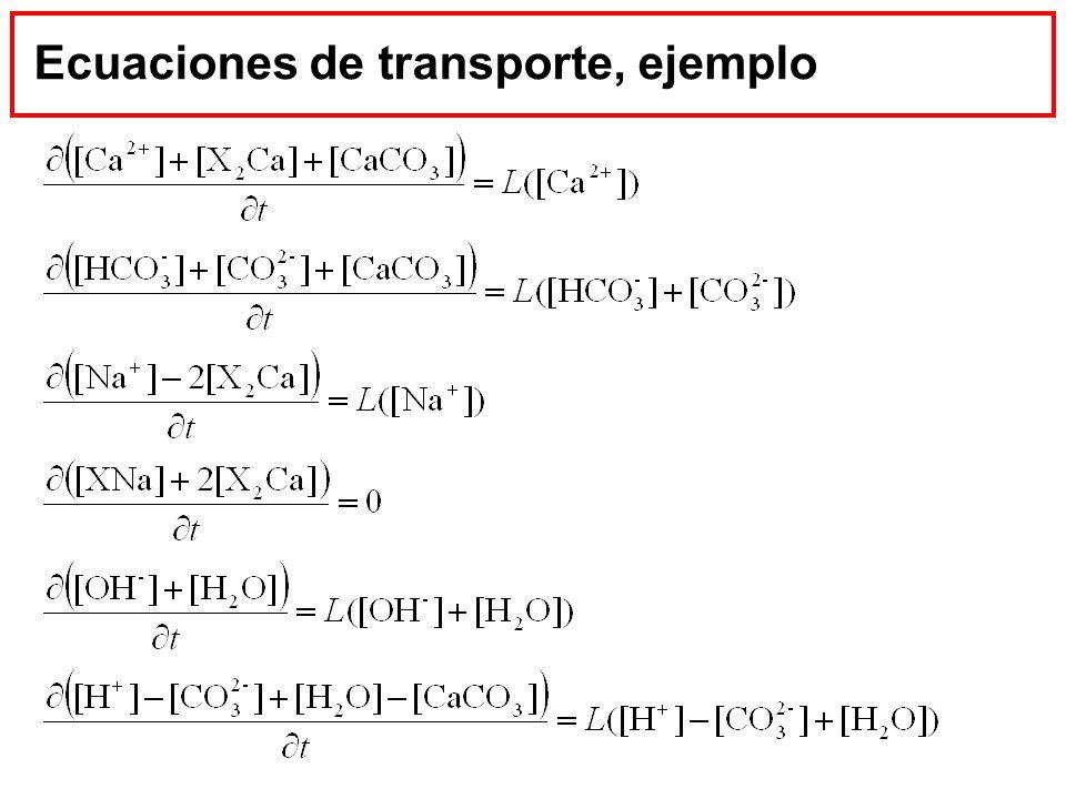 Ecuaciones de transporte, ejemplo