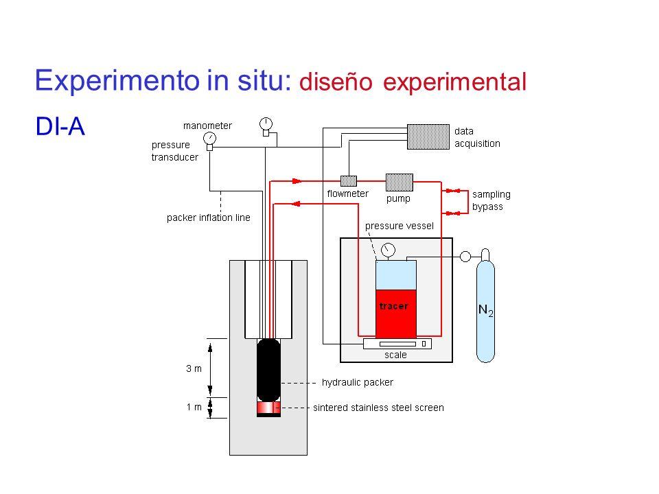 Experimento in situ: diseño experimental DI-A