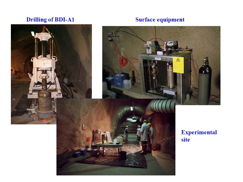 Drilling of BDI-A1Surface equipment Experimental site