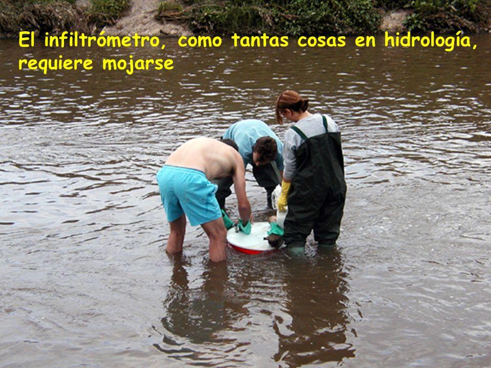 14 El infiltrómetro, como tantas cosas en hidrología, requiere mojarse