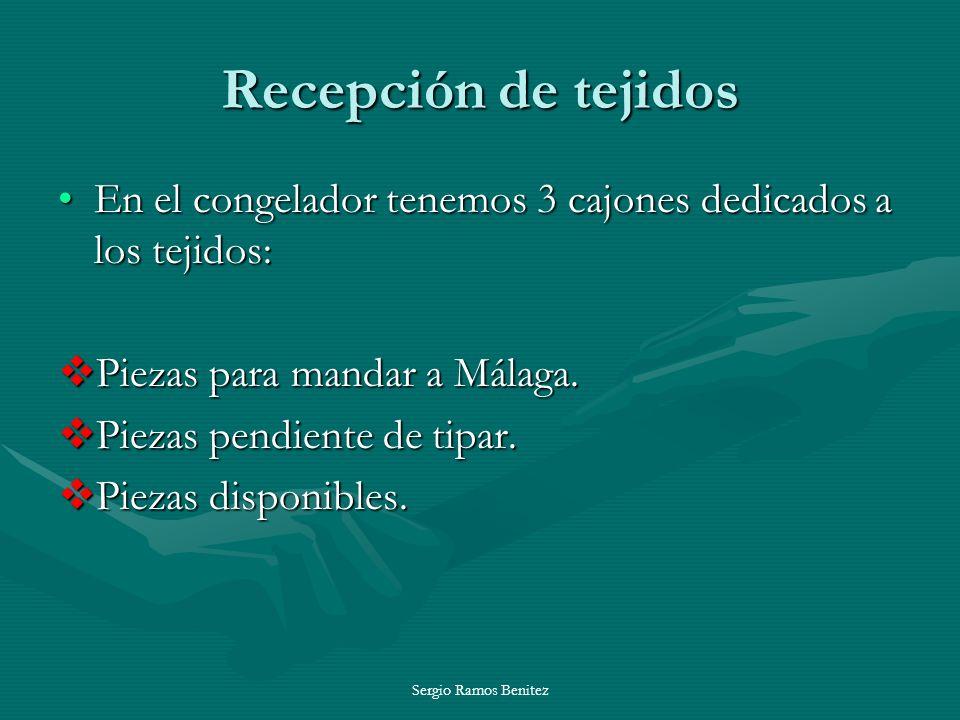 Sergio Ramos Benitez Recepción de tejidos En el congelador tenemos 3 cajones dedicados a los tejidos:En el congelador tenemos 3 cajones dedicados a lo
