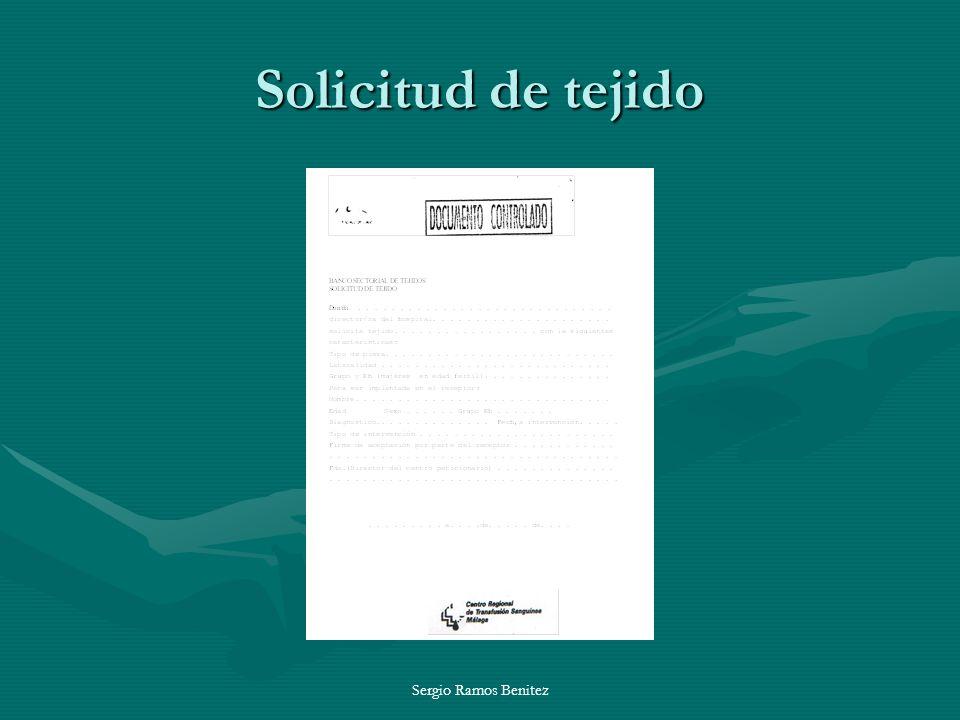 Sergio Ramos Benitez Solicitud de tejido