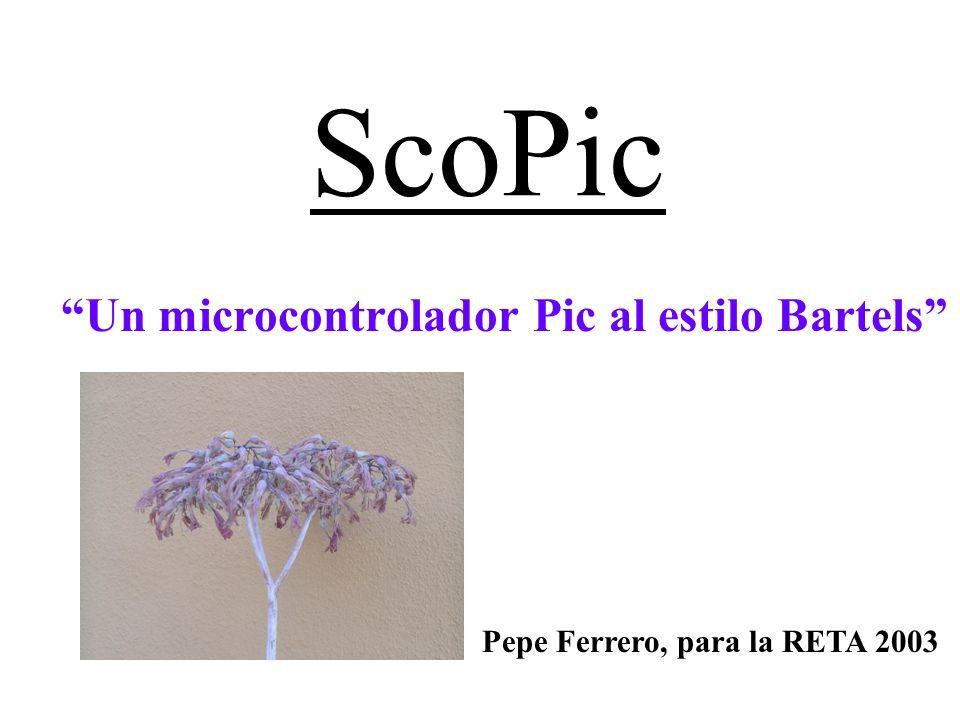 ScoPic Un microcontrolador Pic al estilo Bartels Pepe Ferrero, para la RETA 2003