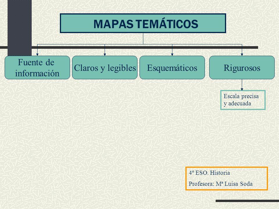 Tipos de mapas SIMPLES COMPLEJOS Presentan la información mediante colores, tramas, líneas, dibujos, símbolos, etc Además del mapa, puede haber tablas y/o gráficas Se analiza de forma ordenada, primero una fuente, luego, otra y finalmente se comparan