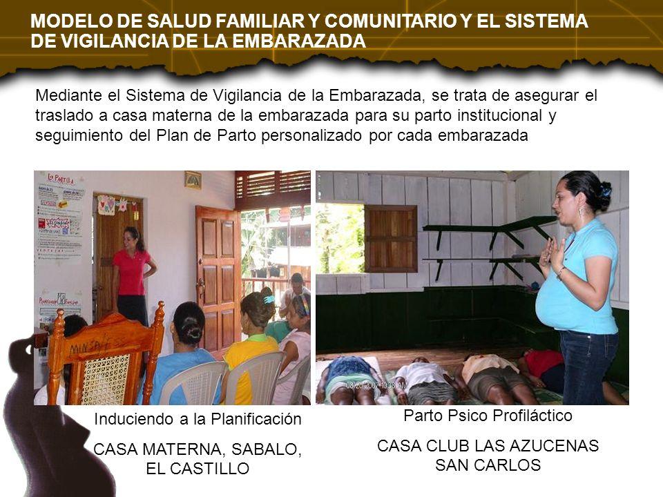 Mediante el Sistema de Vigilancia de la Embarazada, se trata de asegurar el traslado a casa materna de la embarazada para su parto institucional y seg