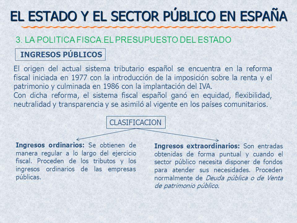 El origen del actual sistema tributario español se encuentra en la reforma fiscal iniciada en 1977 con la introducción de la imposición sobre la renta