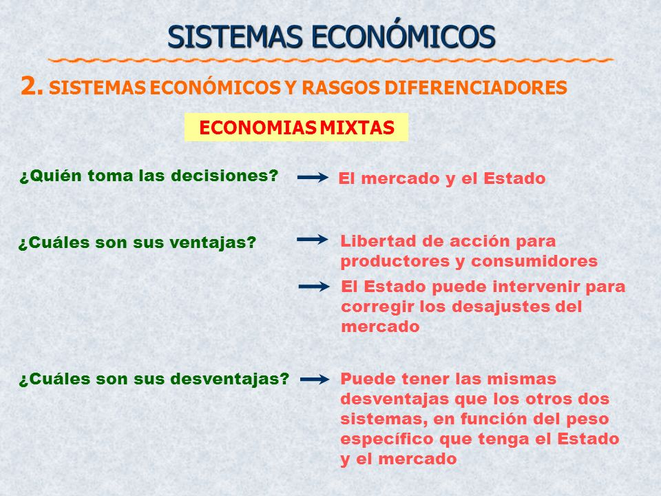 El Estado ¿Quién toma las decisiones? ¿Cuáles son sus ventajas? Falta de incentivos Poca capacidad de reacción y de adaptabilidad Excesiva burocracia