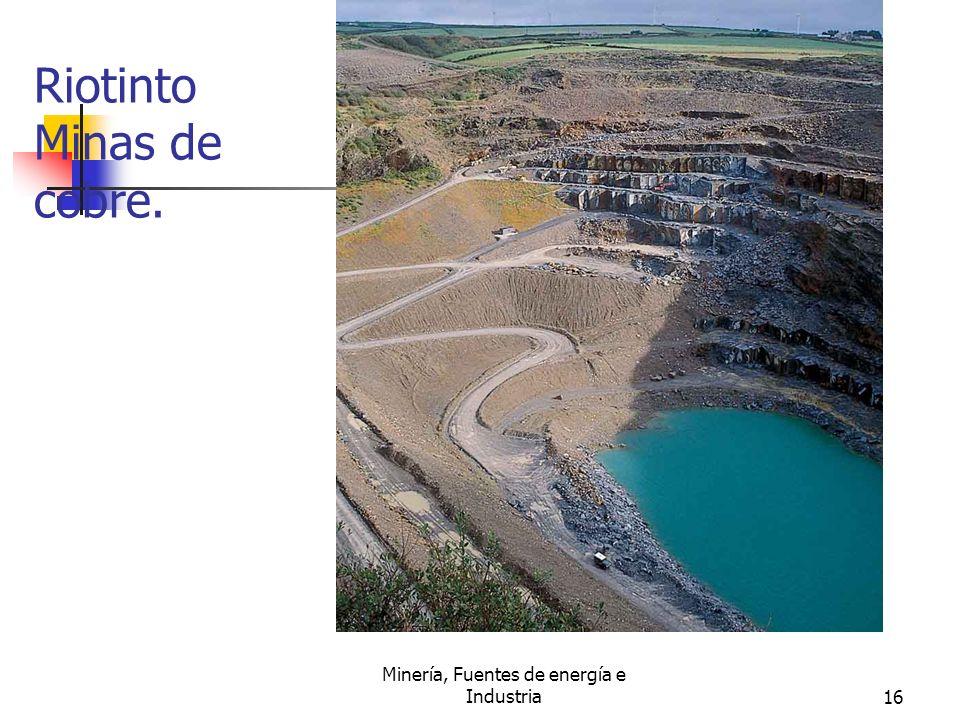 Minería, Fuentes de energía e Industria16 Riotinto Minas de cobre.