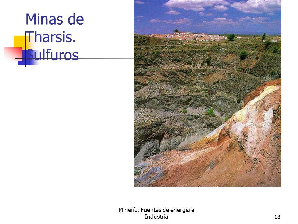 Minería, Fuentes de energía e Industria18 Minas de Tharsis. Sulfuros
