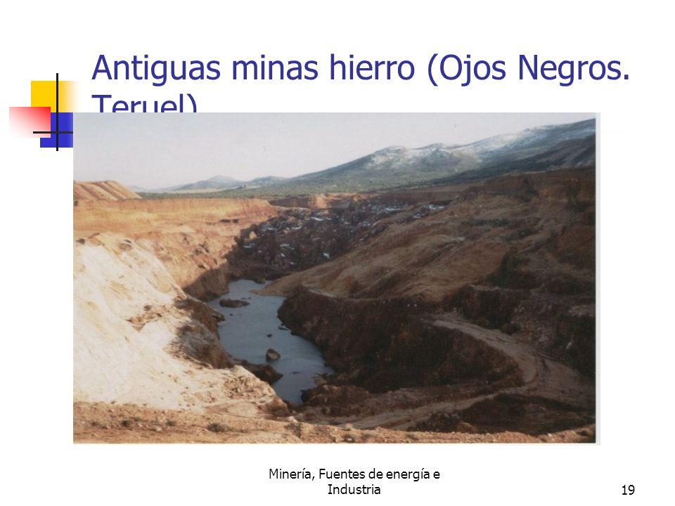 Minería, Fuentes de energía e Industria19 Antiguas minas hierro (Ojos Negros. Teruel).
