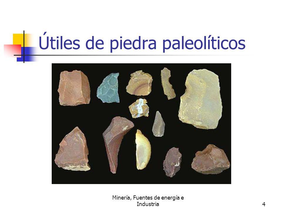 Minería, Fuentes de energía e Industria4 Útiles de piedra paleolíticos