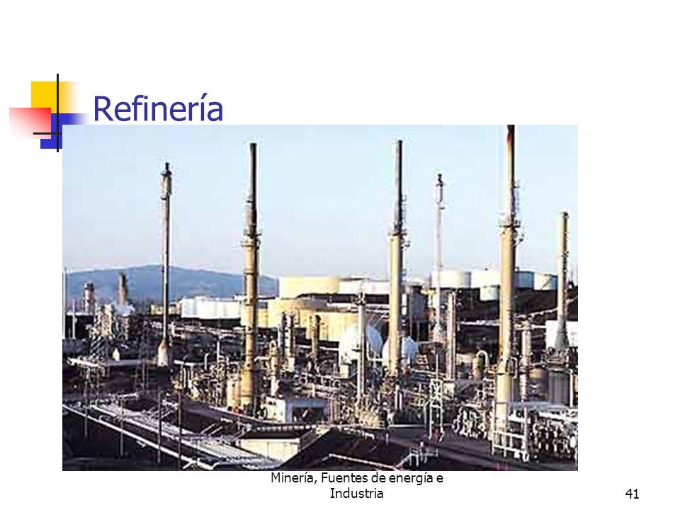Minería, Fuentes de energía e Industria41 Refinería