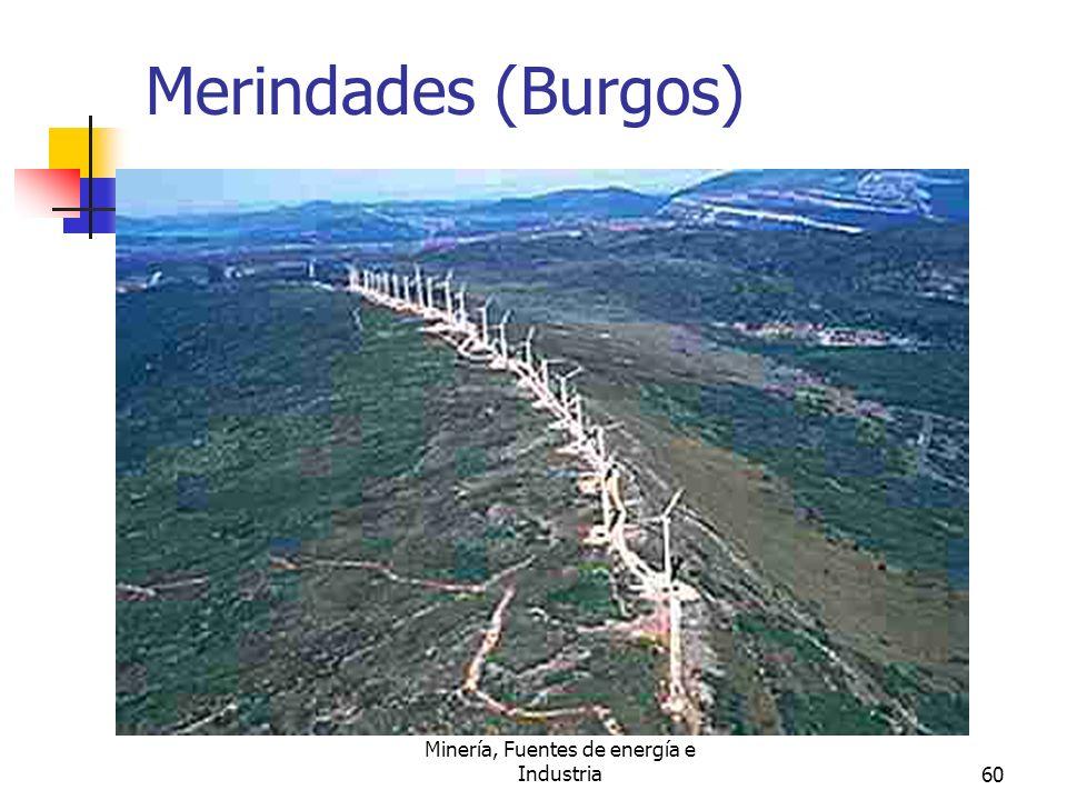 Minería, Fuentes de energía e Industria60 Merindades (Burgos)