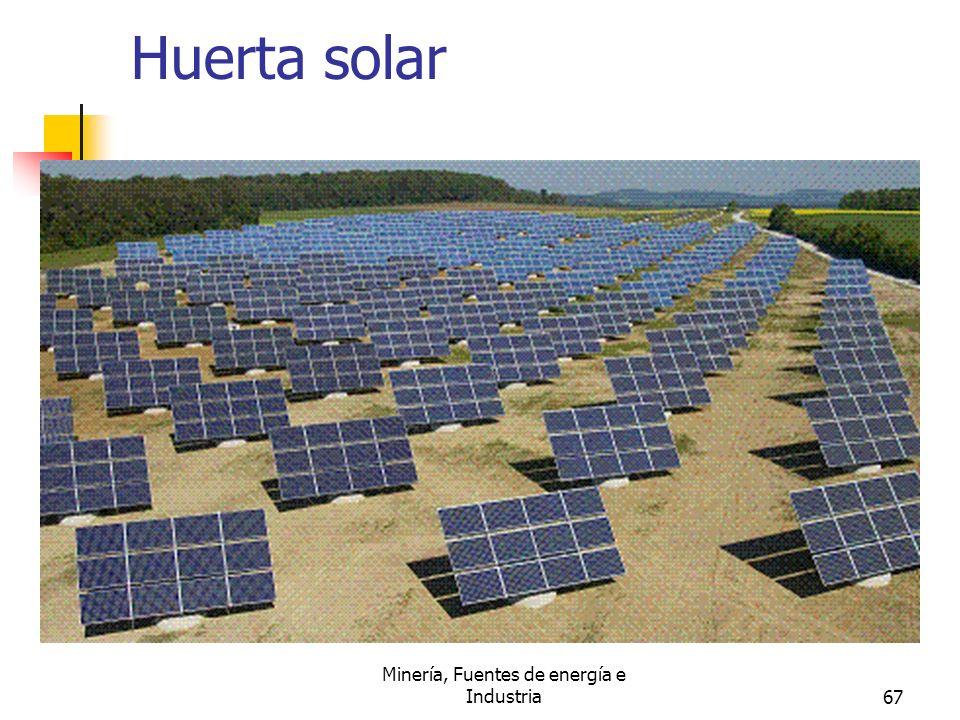 Minería, Fuentes de energía e Industria67 Huerta solar