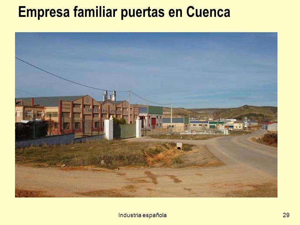 Industria española29 Empresa familiar puertas en Cuenca