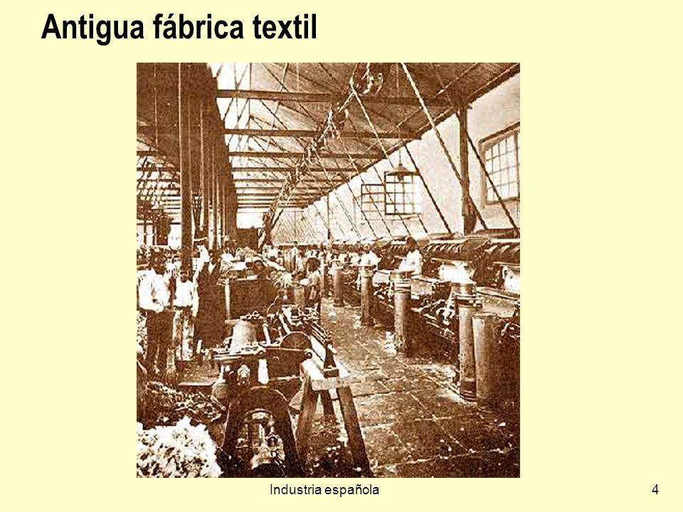 Industria española45 Sector Químico 10% del PIB.