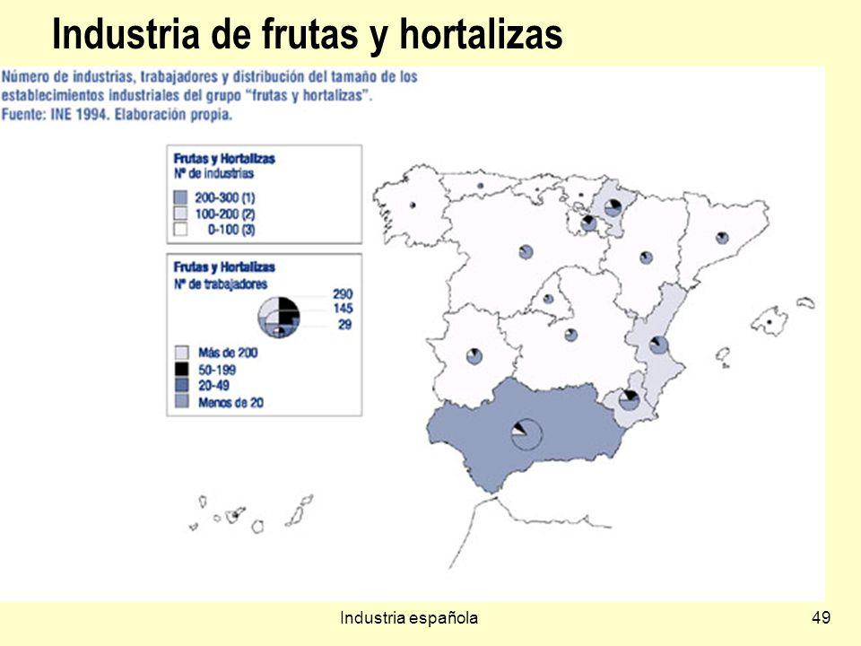 Industria española49 Industria de frutas y hortalizas