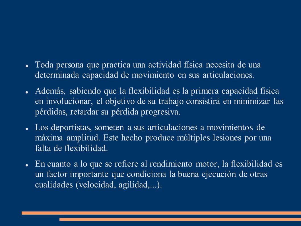 Por tanto, el objetivo del trabajo de la flexibilidad es: a)Retardar su pérdida progresiva.