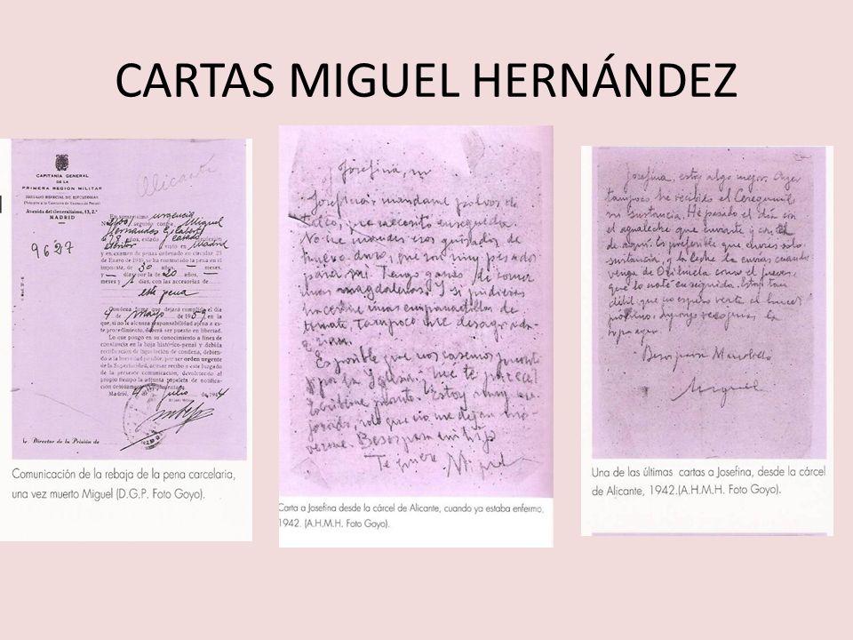 CARTAS MIGUEL HERNÁNDEZ