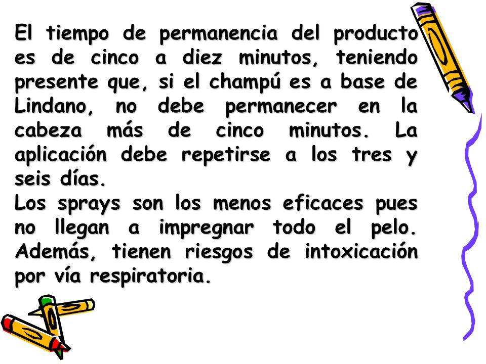 Si después de tres aplicaciones del pediculicida, realizadas correctamente, no se ha conseguido eliminar los piojos, no continúe aplicándolo y consulte a su médico o farmacéutico para cambiar de producto o método.
