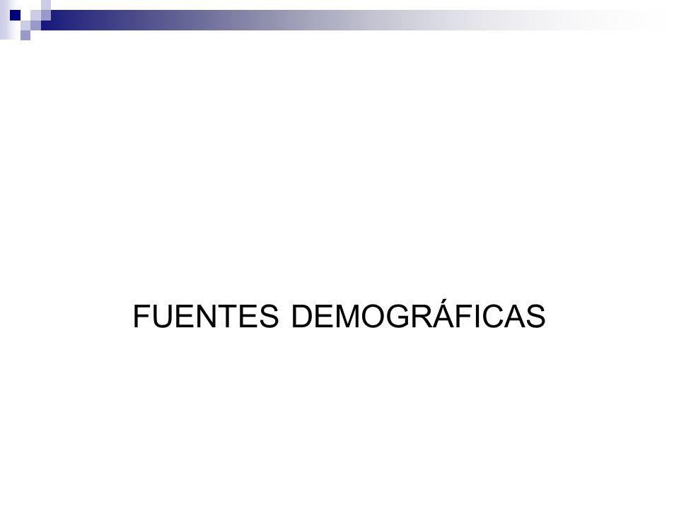 / FUENTES DEMOGRÁFICAS