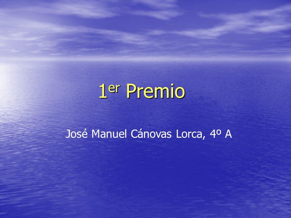 1 er Premio José Manuel Cánovas Lorca, 4º A