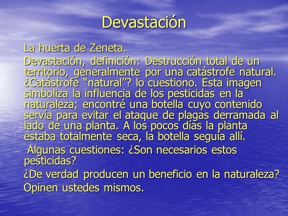 Devastación La huerta de Zeneta. La huerta de Zeneta.