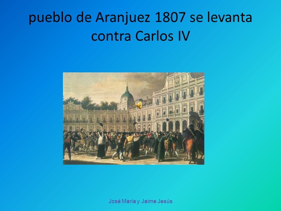 Monarquía absoluta José María y Jaime Jesús