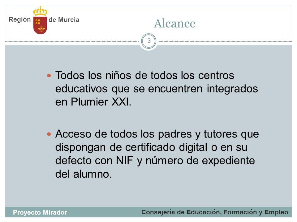 3 Todos los niños de todos los centros educativos que se encuentren integrados en Plumier XXI. Acceso de todos los padres y tutores que dispongan de c