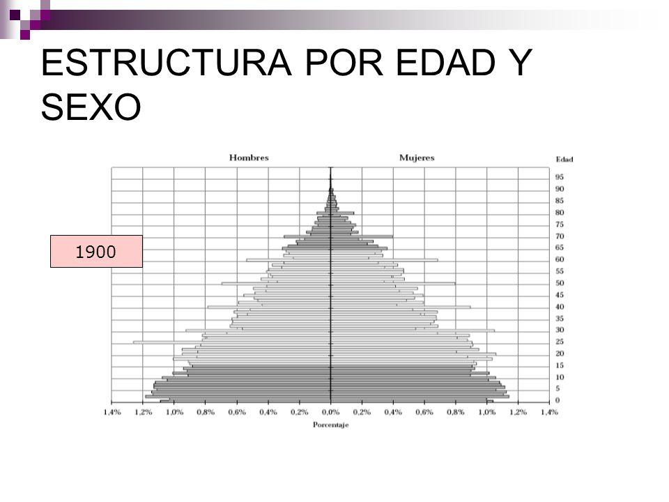 ESTRUCTURA POR EDAD Y SEXO 1900