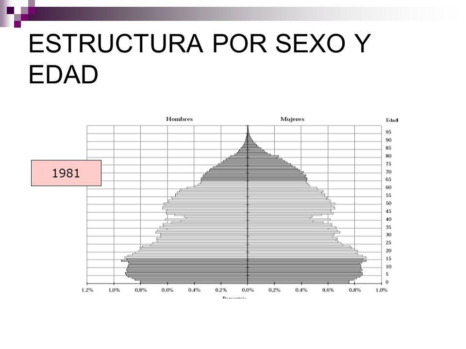 ESTRUCTURA POR SEXO Y EDAD 1981