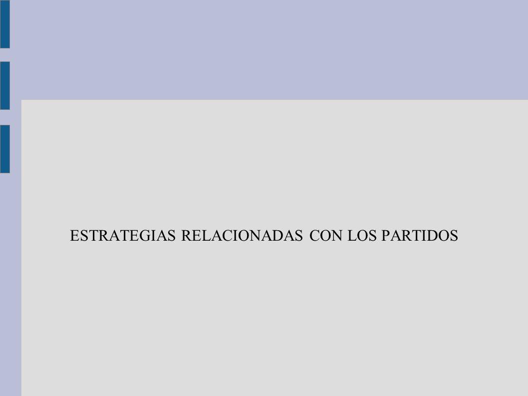 ESTRATEGIAS RELACIONADAS CON LOS PARTIDOS