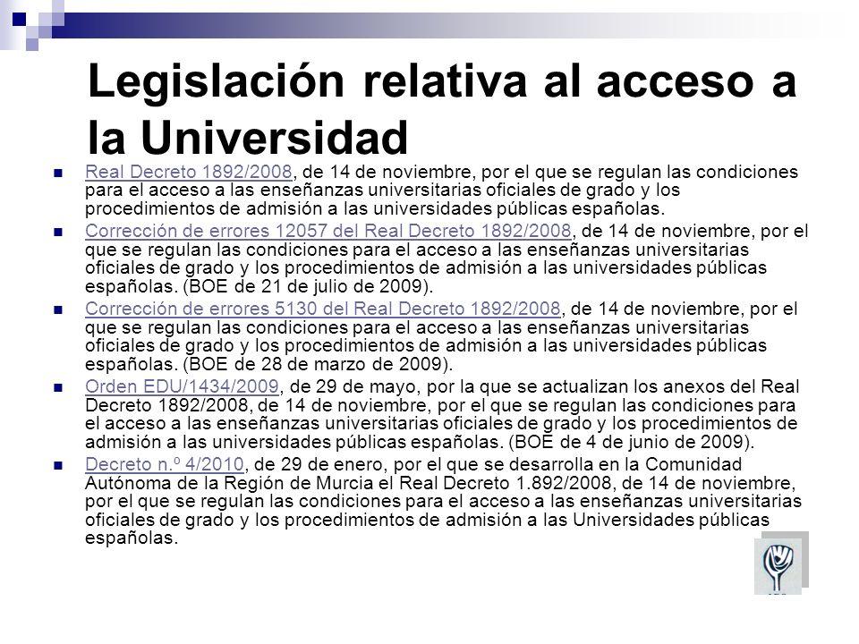 Procedimiento de acceso Para los que se encuentran en posesión del título de Bachiller el procedimiento de acceso a los estudios universitarios será de una prueba
