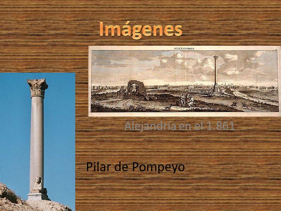 Alejandría en el 1.861 Pilar de Pompeyo