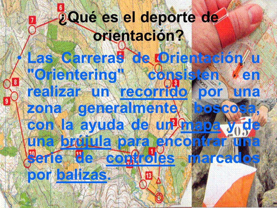 ¿Qué es el deporte de orientación? Las Carreras de Orientación u