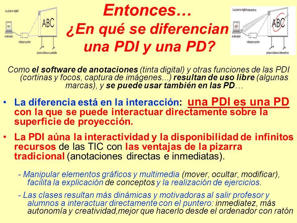 PDI y modelos de utilización en el aula.PDI y modelos de utilización en el aula España 2012: todas las aulas tendrán pizarra digital Portal de la PIZARRA DIGITAL: investigaciones, bibliografía… http://dewey.uab.es/pmarques/pizarra.htm http://dewey.uab.es/pmarques/pizarra.htm La pizarra digital: estudio piloto (2003-2004)La pizarra digital: estudio piloto La investigación SMART (2005)La investigación SMART Research UAB-Promethean (2006-2008)Research UAB-Promethean CHISPAS TIC Y EDUCACIÓN: mitos y mentiras, investigaciones…CHISPAS TIC Y EDUCACIÓN Tecnología educativa.