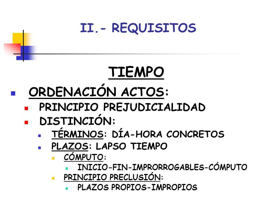 II.- REQUISITOS FORMA ORALIDAD-ESCRITURA: ACTOS ORALES (PREFERENCIA): PRESENCIA DESTINATARIO (INMEDIACIÓN) RESPETO FORMA-GRABACIÓN-DOCUMENTACIÓN INTERVENCIÓN SUJETOS (VIDEOCONFERENCIA) ACTOS ESCRITOS: PAPEL OFICIAL-CONTENIDO-FIRMAS-COPIAS PRESENTACIÓN-REMISIÓN-COMUNICACIÓN: REGISTRO TELEMÁTICA: CONSTANCIA ENVÍO-RECEPCIÓN-AUTOR-FECHA IMPLEMENTACIÓN SISTEMA LEXNET
