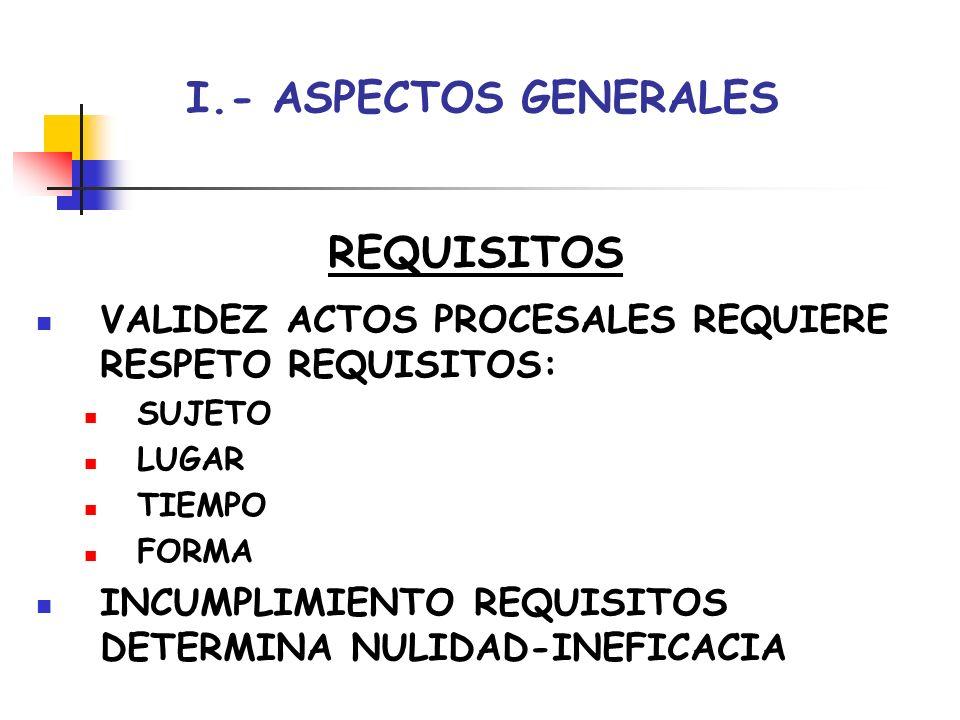 I.- ASPECTOS GENERALES CLASES EN ATENCIÓN A SUJETO DE QUE PROCEDEN: ACTOS DEL ÓRGANO ACTOS DE PARTE ACTOS DE TERCEROS